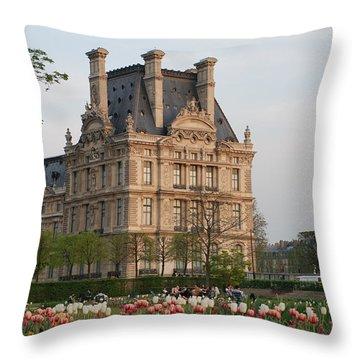 Louvre Museum Throw Pillow