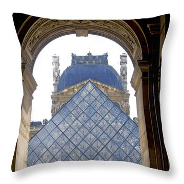 Louvre Palace Museum.paris. France Throw Pillow by Bernard Jaubert