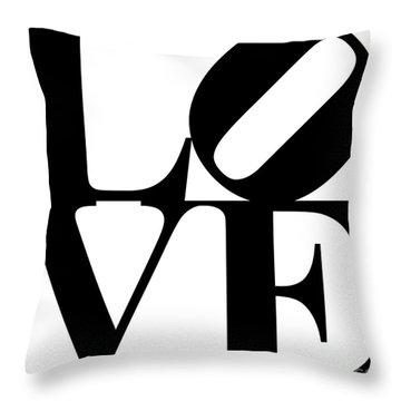 Love 20130707 Black White Throw Pillow