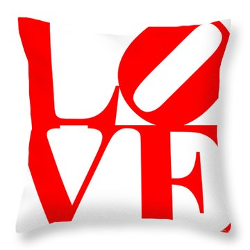 Love 20130707 Red White Throw Pillow
