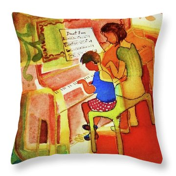 Love A Piano 2 Throw Pillow by Marilyn Jacobson
