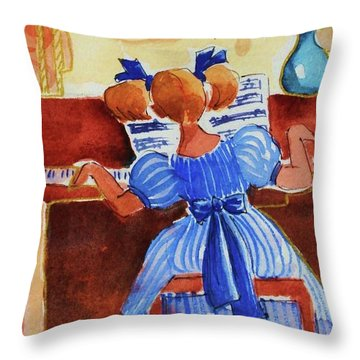 Love A Piano 3 Throw Pillow by Marilyn Jacobson