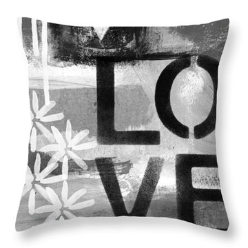 Love- Abstract Painting Throw Pillow