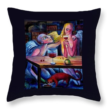 Love And Friendship Throw Pillow by Elisheva Nesis