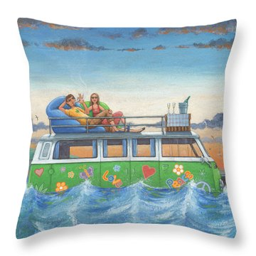 Love And Peace At Sea Throw Pillow
