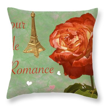 Love And Romance Throw Pillow by Claudia Ellis