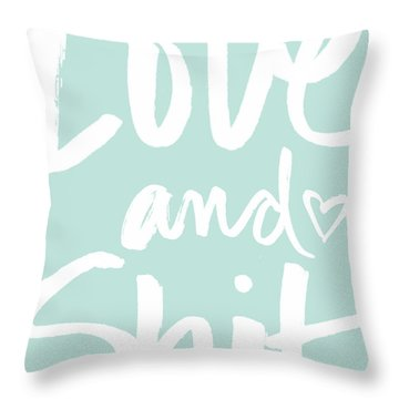 Love And Shit -greeting Card Throw Pillow