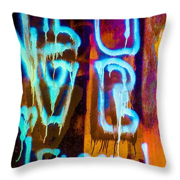Love And Something Else Throw Pillow by Bob Orsillo