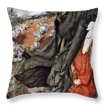 Love And The Scarecrow Throw Pillow by Eleanor Fortescue Brickdale