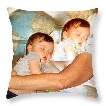 Love Around The World Throw Pillow by Phyllis Kaltenbach