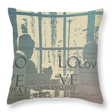 Love At Longwood Throw Pillow