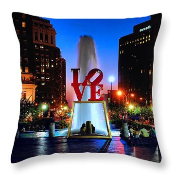 Love At Night Throw Pillow