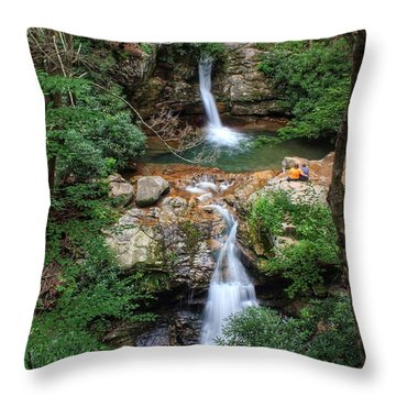 Love At The Blue Hole Throw Pillow