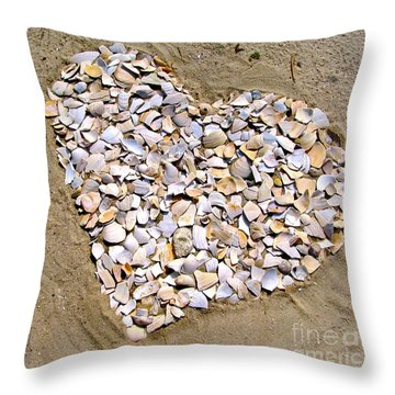 Love At The Jersey Shore Throw Pillow by Colleen Kammerer