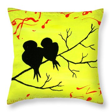 Love Birds Art Throw Pillow