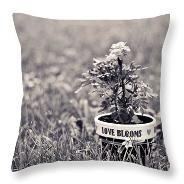 Love Blooms Throw Pillow by Sara Frank