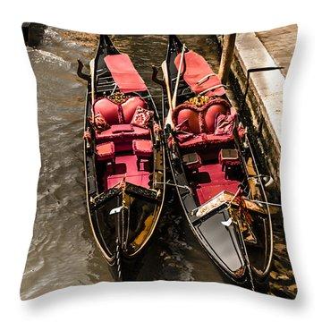 Venice, Italy - Love Boats Throw Pillow