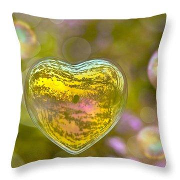 Love Bubble Throw Pillow