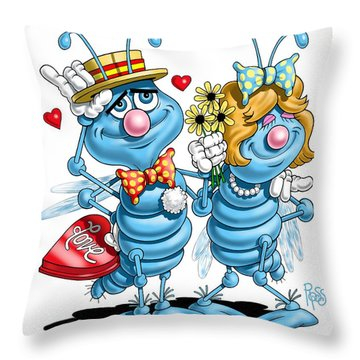 Love Bugs Throw Pillow