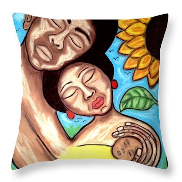 Love Throw Pillow by Chrissy  Pena