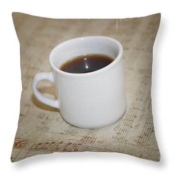 Love Coffee And Music Throw Pillow by Nina Prommer