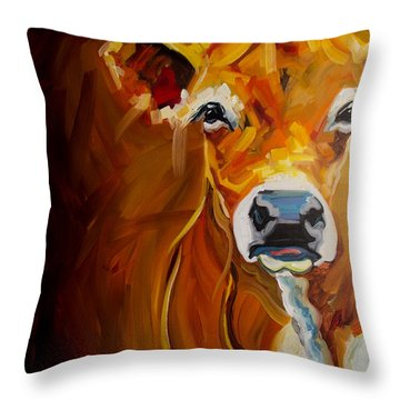 Love Cow Throw Pillow