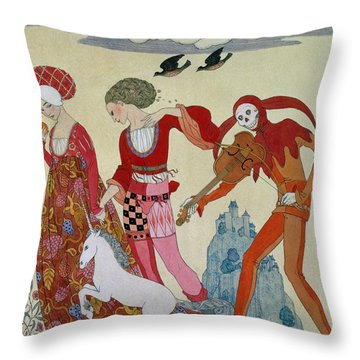 Love Desire And Death Throw Pillow