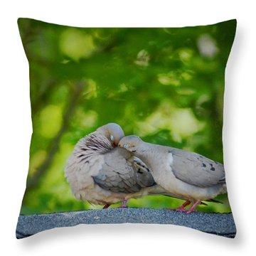 Love Doves  Throw Pillow