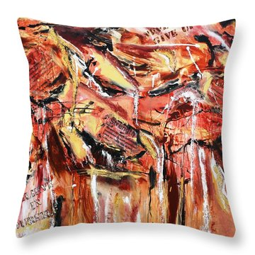 Love  Energy  Strength Throw Pillow by Victoria  Johns