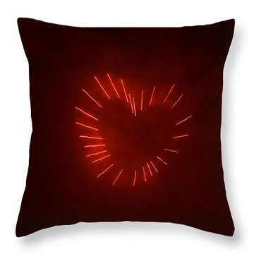 Throw Pillow featuring the photograph Love Explosion by Linda Mishler