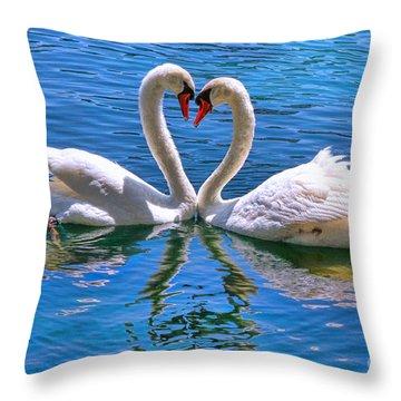 Love For Lauren On Lake Eola By Diana Sainz Throw Pillow