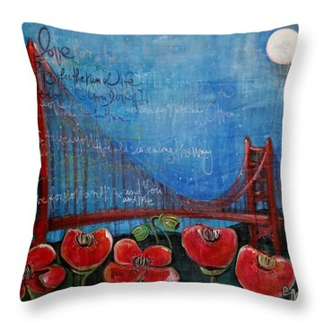 Love For San Francisco Throw Pillow