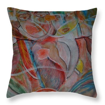 Love Four  Music On Throw Pillow