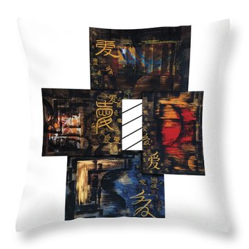 Throw Pillow featuring the painting Love Four Seasons by Fei A