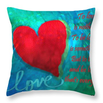 Throw Pillow featuring the mixed media Love Galore 26 by Holley Jacobs