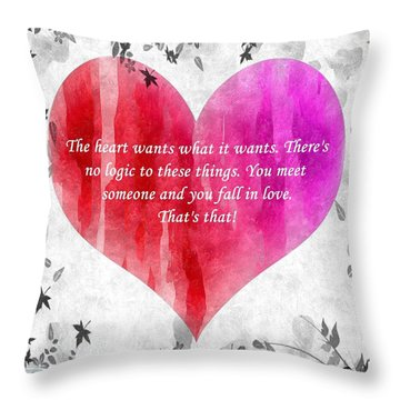 Throw Pillow featuring the mixed media Love Galore 27 by Holley Jacobs