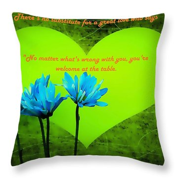 Throw Pillow featuring the mixed media Love Galore 28 by Holley Jacobs