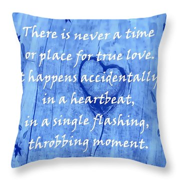 Throw Pillow featuring the mixed media Love Galore 29 by Holley Jacobs