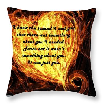Throw Pillow featuring the mixed media Love Galore 30 by Holley Jacobs