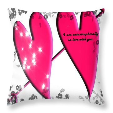 Throw Pillow featuring the mixed media Love Galore 31 by Holley Jacobs