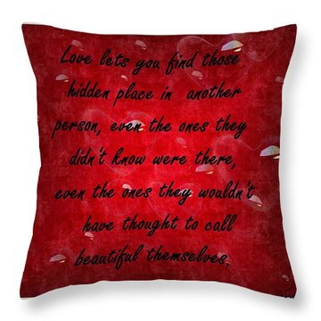 Throw Pillow featuring the mixed media Love Galore 32 by Holley Jacobs