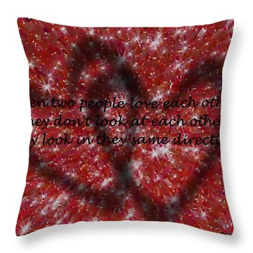 Throw Pillow featuring the mixed media Love Galore 33 by Holley Jacobs