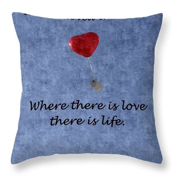 Throw Pillow featuring the mixed media Love Galore 34 by Holley Jacobs