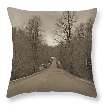 Love Gap Blue Ridge Parkway Throw Pillow by Betsy Knapp