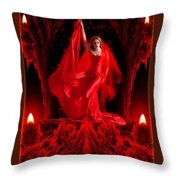 Love Goddess - Fantasy Art By Rgiada Throw Pillow by Giada Rossi