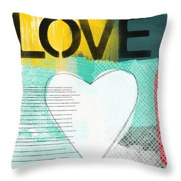 Love Graffiti Style- Print Or Greeting Card Throw Pillow
