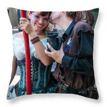 Love Throw Pillow by Guy Whiteley