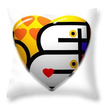Love Heart Pop Throw Pillow