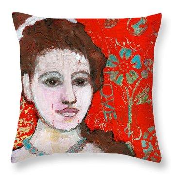 Love Hurts By Blenda Studio Throw Pillow by Blenda Studio