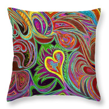 love in every shade of U v7 - love in every shade of blue Throw Pillow